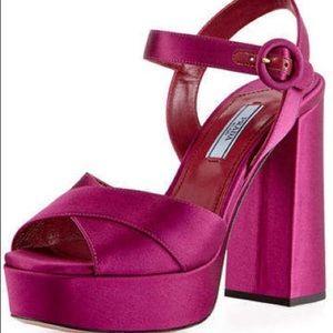 Prada Crisscross Heels